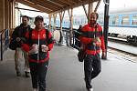 Fotbalisté plzeňské Viktorky vyrazili na utkání se Slováckem vlakem