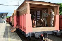 Legiovlak na nádraží v Plzni-Křimicích