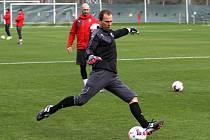 Roman Pavlík při tréninku v Turecku.