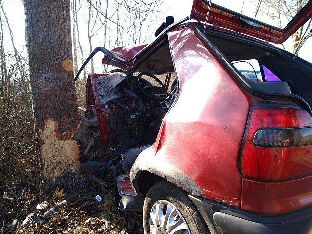 Tragická dopravní nehoda u obce Struhaře