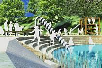 U rolnického náměstí v Lobzích vzniknou vodní plochy s herními prvky, např. tzv. vodním šroubem