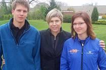 Andrea Šetková a Jan Mirvald se na turnaji setkali s olympioničkou Kateřinou Neumannovou