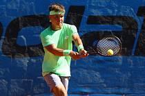 Na snímku z loňského ročníku je mladý německý tenista Krumich.