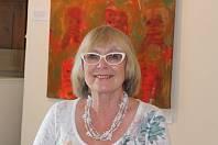 Literátka a výtvarnice Květa Monhartová v Galerii Jiřího Trnky