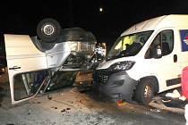 Páteční nehoda na dálnici D5.