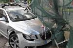 Nehoda na křižovatce ulic Rokycanská a Dítětova
