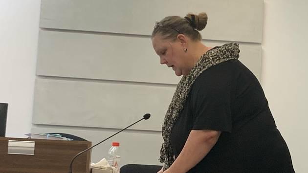 Obžalovaná Iva Wastlová před soudem.