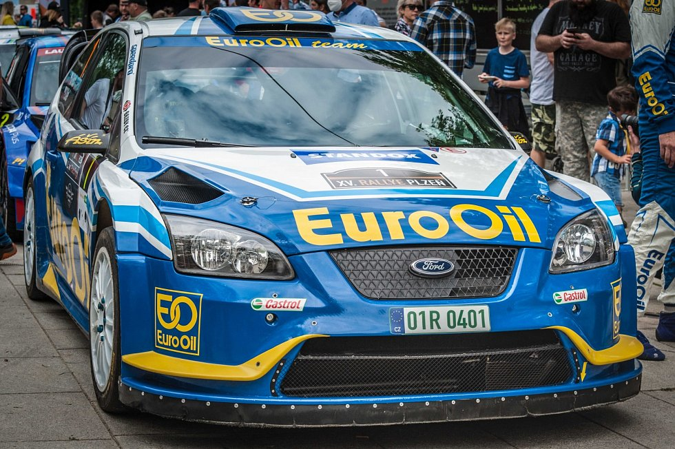 Největším lákadlem letošní Lak Racing Rallye Plzeň byl start posádky plzeňského EuroOil teamu Václav Pech - Petr Uhel s vozem Ford Focus WRC.
