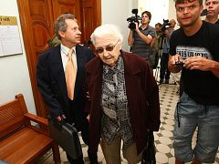 Soud s Ludmilou Brožovou-Polednovou, žalobkyní v procesu s Miladou Horákovou