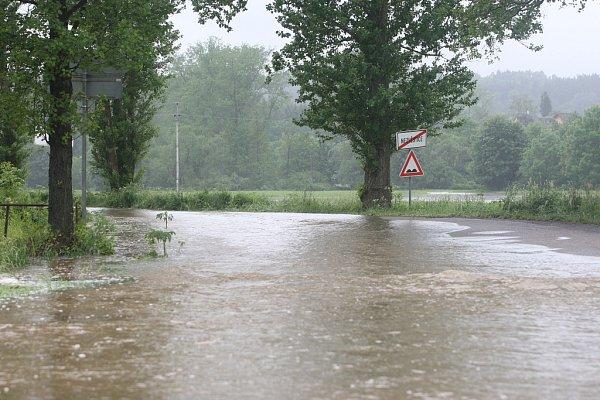 Povodně vPlzni - Žákava