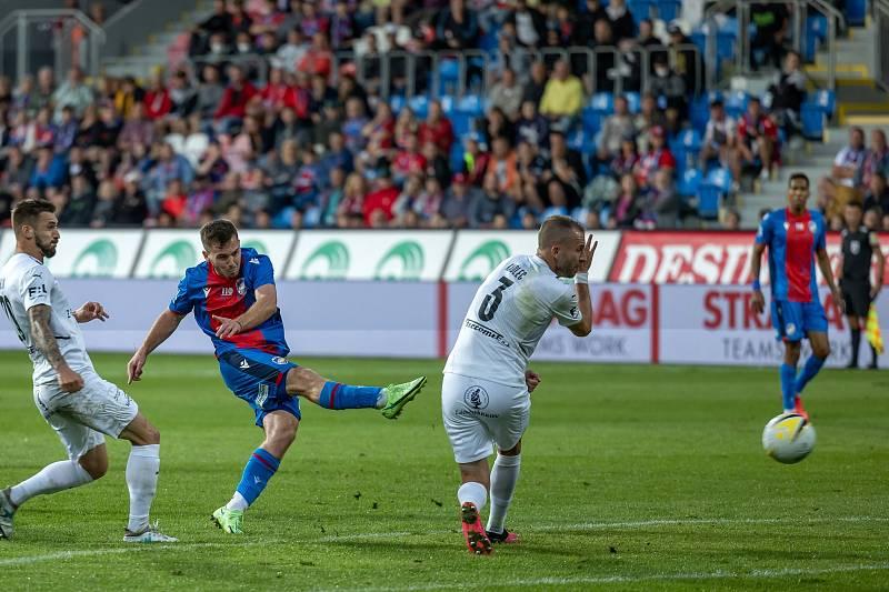 Pavel Bucha byl v ligovém utkání proti Slovácku při střelecké chuti, ale branku nedal..