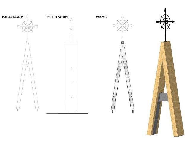 Vizualizace památníku zmizelého kostela