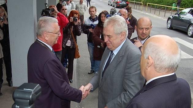 Miloš Zeman v Tachově