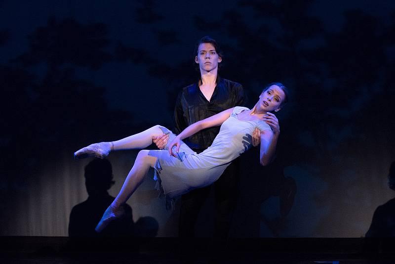 Afroditi Vasilakopoulou, Justin Rimke při generální zkoušce baletu Anastázie - poslední dcera cara v Divadle J. K. Tyla v Plzni.