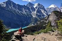 Markéta Horová v krásné kanadské přírodě.