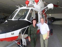 Leteckou záchranku dnes a před lety porovnávala i sestra Dana Vranovská a šéf ARO Eduard Kasal