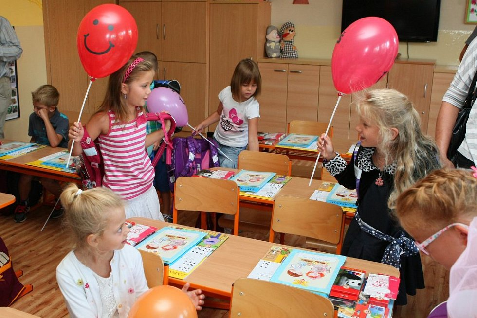 Barunka Sojková  poprvé usedla do lavice plzeňské 25. základní školy.