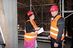 Fotoreportáž z výstavby nového divadla v Plzni