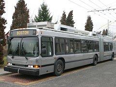 Jeden z bostonských trolejbusů, které čeká modernizace