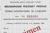 Mezinárodní řidičský průkaz - vzor Vídeň 1968