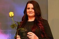 Michaela Štenglová, vítězka v kategorii dospělých při ocenění nejlepších sportovců okresu Plzeň-jih za rok 2015