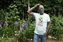 """""""S výjimkou  stromů, jako jsou jabloně nebo jilmy, jsem tady všechno sázel,"""" popisuje Vladimír Franz, když nás provádí svou zahradou, která hraje barvami."""
