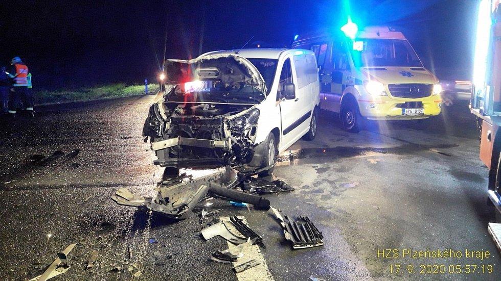 Dopravní nehoda u Třemošné.