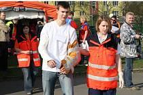 Taktické cvičení složek záchranného systému na Sportovním gymnáziu v Táborské ulici v Plzni