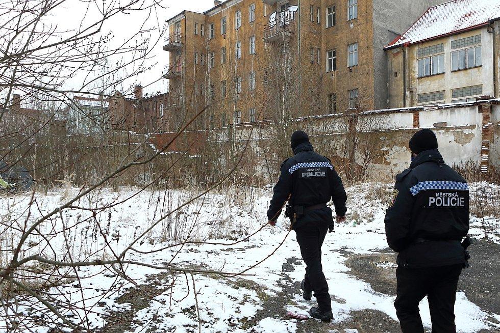 Zarostlý prostor po bývalých mlýnech mezi Prokopovou a Resslovou ulicí. Útočiště si zde našlo několik bezdomovců, které sem téměř denně chodí kontrolovat plzeňští strážníci.