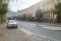 Místo na Americké v Plzni, kde došlo k útoku a střelbě.
