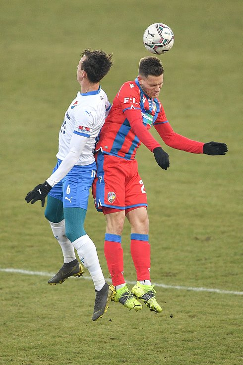 Utkání 17. kola první fotbalové ligy: FC Baník Ostrava – FC Victoria Plzeň, 31. ledna 2021 v Ostravě. (zleva) Daniel Tetour z Ostravy.