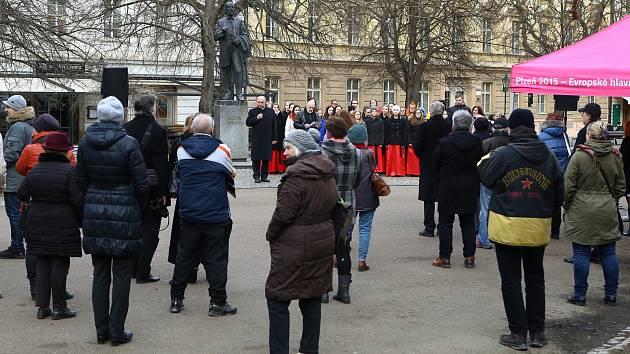 Pietní akt u památníku Bedřicha Smetany v rámci Smetanovských dnů