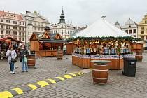 Novoroční trhy na náměstí Republiky v Plzni