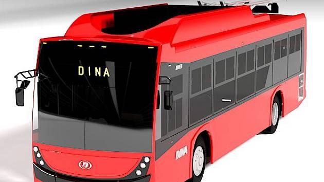 Vizualizace trolejbusu pro Mexico