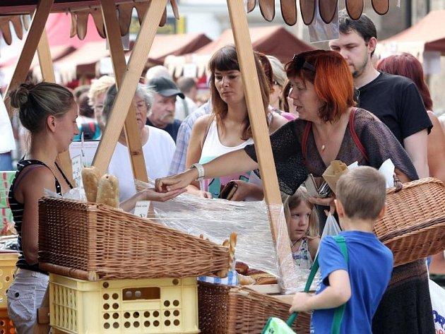Farmářské trhy na náměmstí Republiky v Plzni