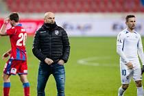 Smutný trenér Adrian Guľa po prohraném utkání s Libercem (0:2).