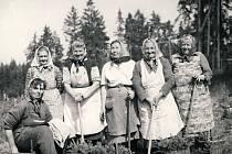 Lesní dělnice v roce 1970.