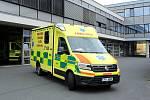 Vozidlo pro nadměrné pacienty na plzeňské záchrance.