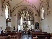 Noc kostelů v Plzni. Kostel Všech svatých v Plzni na Roudné.