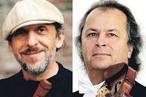 Jiří Stivín (vlevo) a Václav Hudeček zahájí koncertní sezonu na Kozlu.