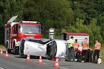 Páteční odpolední nehodu u Bdeněvsi motorkář nepřežil