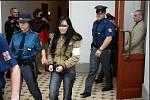 Michaela K. u Krajského soudu v Plzni při vyhlašování rozsudku zkolabovala.