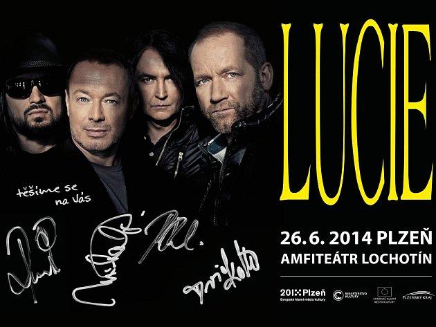 Plakát kapely Lucie