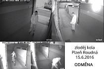 Záběry pachatele z místa činu