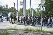 Policisté evakuovali městskou část Skvrňany