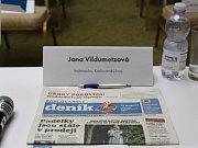 Setkání s hejtmankou Janou Vildumetzovou