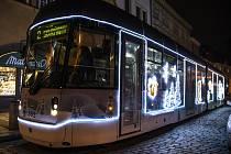 Vánoční tramvaj v Plzni