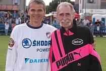 Milan Schejbal (vpravo) na archivním snímku s trenérem Vítězslavem Lavičkou