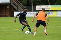 Joel Kayamba během tréninku v rakouském Westendorfu.