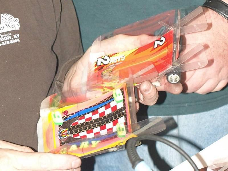 Detail závodních autíček